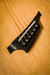ebony fan fret guitar bridge abalone Parisian eye bridge pins handmade guitar insight