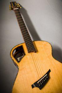 Insight handmade steelstring guitar aaa bearclaw sitka spruce top padauk binding fan fret