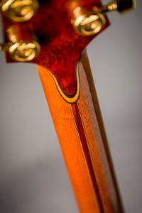 french polished padauk backstrap laminated neck handmade guitar insight