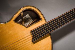 insight handmade guitar padauk binding abalone purfling laminated braces fanned fret