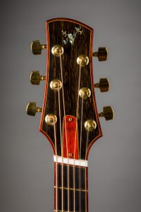 padauk headstock binding ebony veneer handmade steelstring guitar uk insight abalone inlay