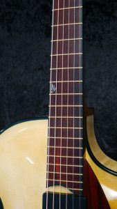 handmade archtop guitar cocobolo fingerboard 12th fret inlay mop