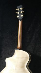 handmade archtop guitar side sound port laminated neck curly maple