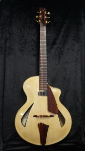 handmade archtop guitar curly maple sitka spruce cocobolo soul purpose