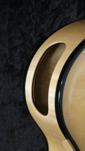 side sound port solid linings handmade archtop guitar