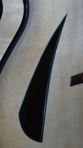 cat eye f holes with ebony binding handmade archtop guitar